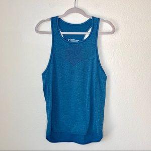 Zella. Blue work out tank. Size M